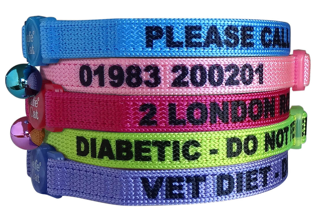 Personalised Soft Cat Collars