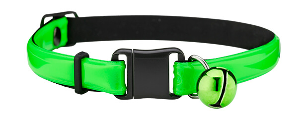 fluorescent green reflective cat collar