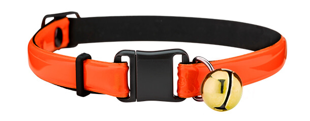 fluorescent orange reflective cat collar