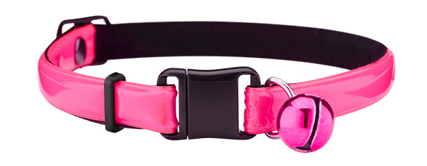 fluorescent pink reflective cat collar