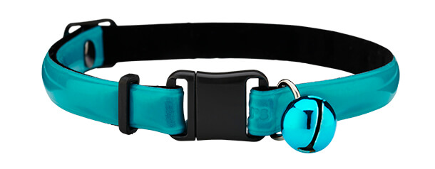 teal reflective cat collar