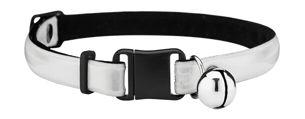 white reflective cat collar