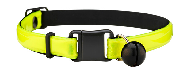 fluorescent yellow reflective cat collar