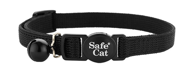 black soft cat collar
