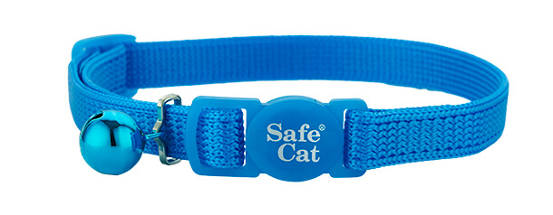 blue soft cat collar