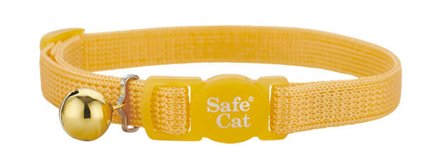 golden yellow soft cat collar