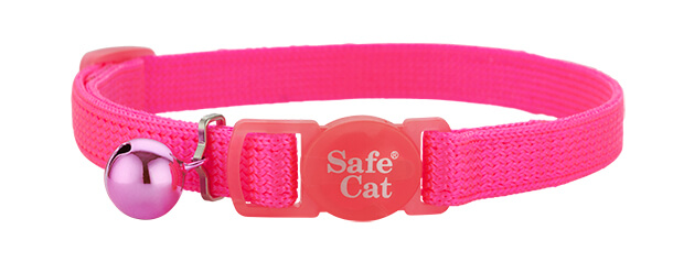 neon pink soft cat collar