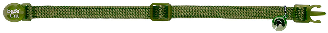 olive green soft cat collar