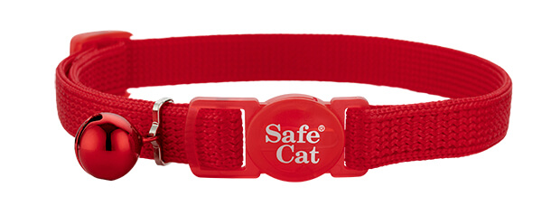 red soft cat collar