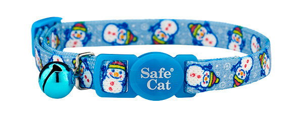 christmas cat collar - snowman