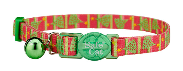 christmas cat collar - christmas tree