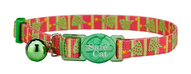 christmas cat collar - christmas tree